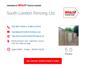 Which? Trusted Trader - Fencing Contractor - South London Fencing