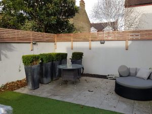 Venetian fencing installed by South London Fencing in Wandsworth