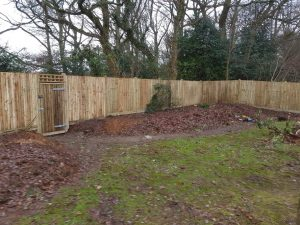 New garden fence in Oxted, Surrey by South London Fencing