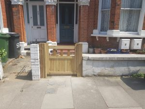 Front gate installation in Dulwich by South London Fencing