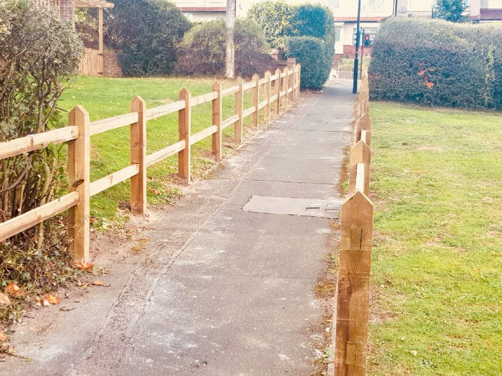 Rail and post fencing by South London Fencing in Selsdon